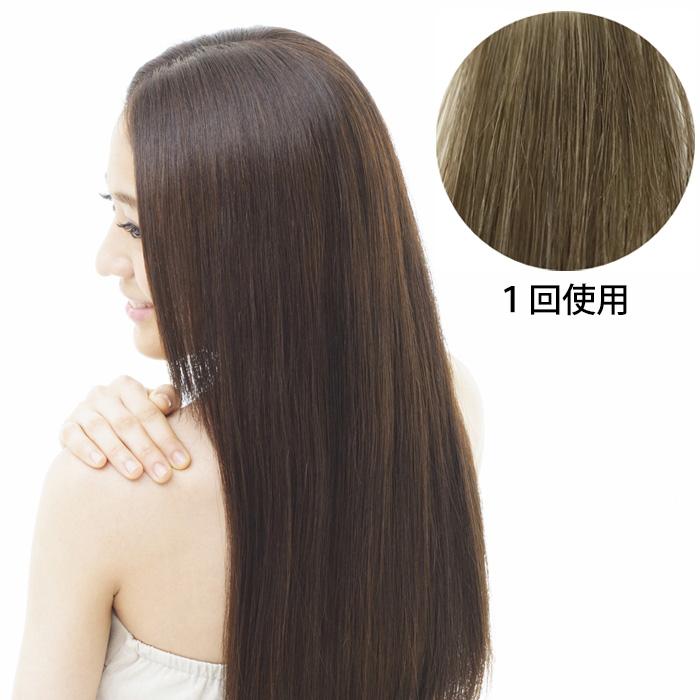 髪萌カラートリートメント 染まりイメージ