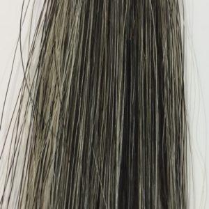 黒染めヘアシャンプー 15回使用後の染まり